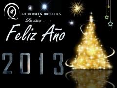 QUIRINO BROKERS - FELIZ Y PROSPERO AÑO 2013 para todos y en especial para nuestros clientes.