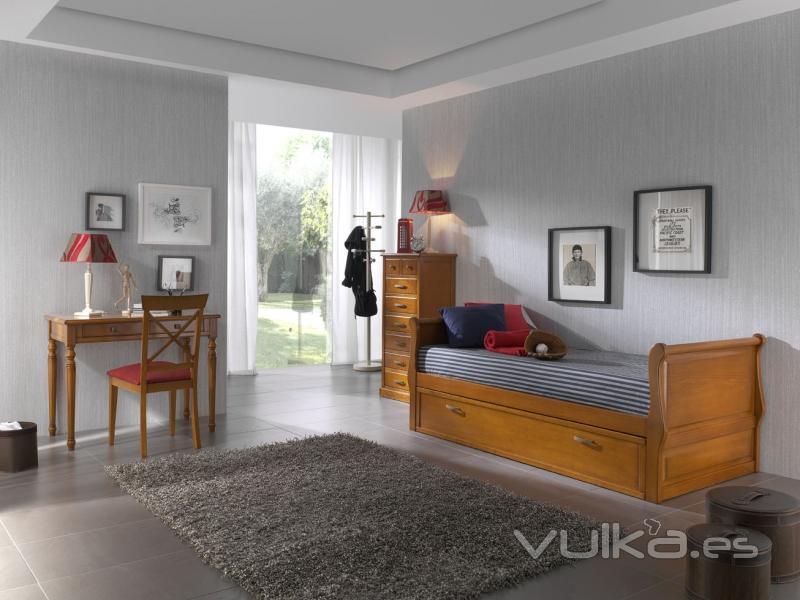Foto dormitorio juvenil con cama nido barco - Cama nido barco ...