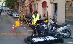 Georadar 3d. gpr. georradar. b�squeda refugio anti-aereo de la guerra civil en barcelona.