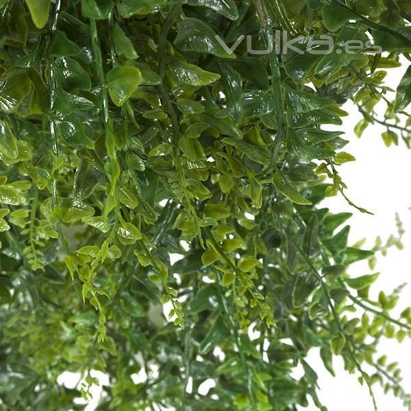 Foto plantas colgantes artificiales planta artificial colgante baker fern verde en la llimona - Plantas colgantes ...
