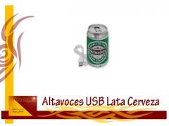Altavoz lata cerveza usb