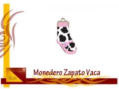 Monedero zapato vaca