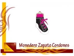 Monedero zapato cordones