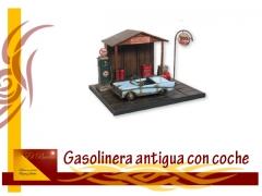FIGURAS DE GASLONERA ANTIGUA Y COCHE