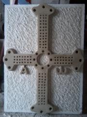 Escudo de asturias tallado a mano en piedra natural