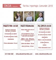 Ofertas- Reportajes comunión 2013