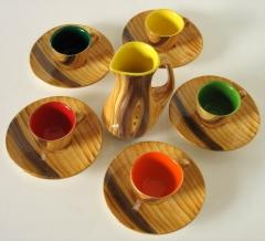 Babia bazar vintage ::  conjunto de cerámica vallauris años 50 ::  www.babia.info