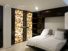 Mueble con cama abatible a medida. dise�o muxacra, arquitectos, moj�car fabricaci�n y montaje www.na