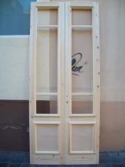 Puertas salcedo. puerta de madera sin barnizar
