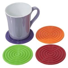 Gifts. set posavasos silicona redondos colores en la llimona home