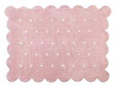 Alfombra infantil gallera rosa. de algod�n y apta para lavadora.