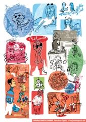 Ilustraciones coca-cola, aquabona, nestlé, panrico, bic, entre otros. +info en www.juanmagarcia.net