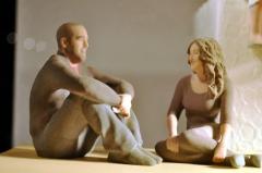 Esculturas 3d de threedee-you foto-escultura 3d-u - san valent�n - figuras para tartas de boda