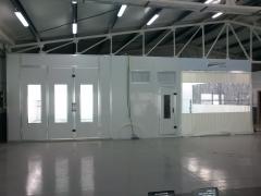 Cabina, box de pintura y zona de preparacion yoki. mostoles