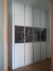 ¡¡novedad!! frente de armario fabricado en melamina blanca con franja personalizada con imagen