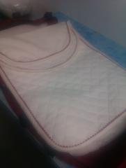 Colcha para carrito piqu� enguatado, hecha a mano (artesan�a)