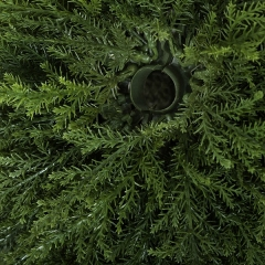 Plantas artificiales. planta bola cedro artificial verde 50 3 - la llimona home