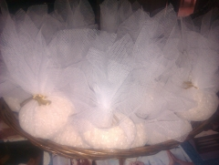 Bolsitas de tul para arroz, para bodas (artesan�a)