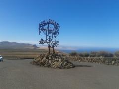 Entrada del mirador del r�o, en el norte de lanzarote.