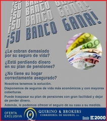 QUIRINO & BROKER´S -  ¿ Le cobran demasiado por sus seguros ?  Contacte con nuestras oficinas,.
