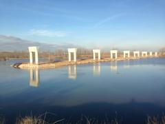 Ataguía para viaducto sobre el río pisuerga