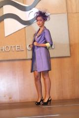 Abrigo y vestido morado-lima