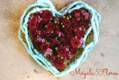 Corazon con rosas para San Valent�n Mayula Flores