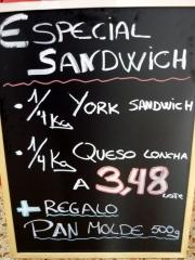 Oferta especial sandwich