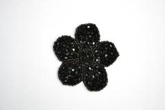 Aplique con rocalla y pedrer�a en negro