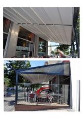 Terraza 40 m2 de restaurante con techo totalmente extendido
