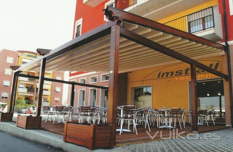Foto terraza con estructura de madera - Estructuras para terrazas ...
