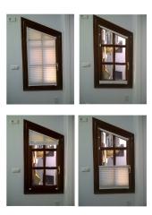Cortina plisada. ideal para situaciones dif�ciles ocupando un m�nimo espacio.