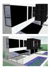 Proyecto de toldos verticales y cofres para vivienda particular.