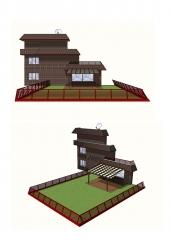 Proyecto para instalación de pérgola de madera en salida a jardín.