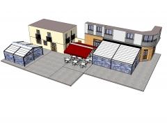 Proyecto con tres tipos de terraza para hostelería.