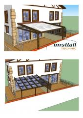 Proyecto con dos opciones para vivienda particular.