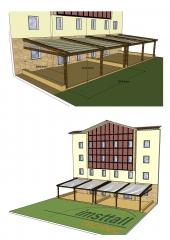 Proyecto para p�rgola de 95 m2.