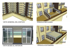 Proyecto de pérgola de aluminio de altas prestaciones para terraza.