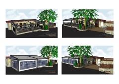 Proyecto para terraza en restaurante.