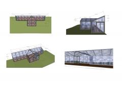 Proyecto de porche de cristal.
