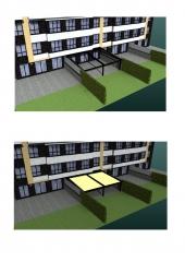 Proyecto de terraza con p�rgola.