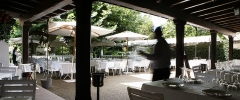 Terraza del restaurante en gij�n