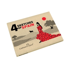 Caja pack 4 unidades front ref. 1005 sketches of spain