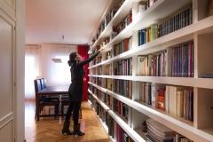 Dise�o de biblioteca en vivienda en boadilla, en madrid