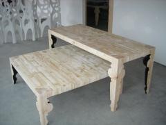 Mesas con patas torneadas realizadas para mango