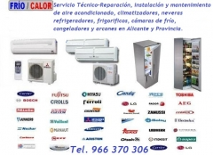 Reparaci�n de frigor�ficos y aire acondicionado en valencia