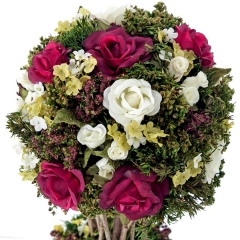 Arreglos florales artificiales. arreglo floral bola natural rojo 35 2 - la llimona home