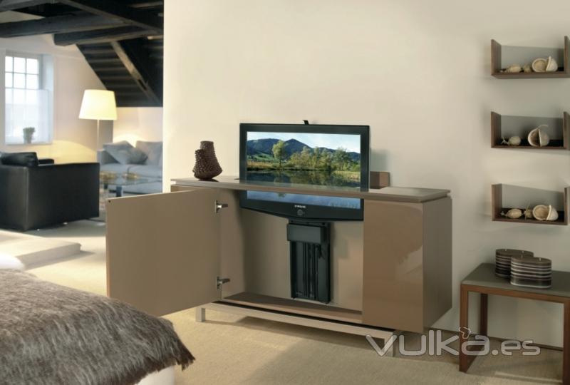 Tv lift solutions berta prova s l for Mueble soporte tv