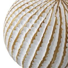 Decoraci�n. bola resina rayas beig 12 1 - la llimona home