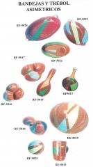 Asimetricos trebol y fuentes ovaladas f.r